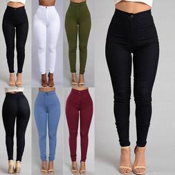 pencil jeans women lady stretch casual denim