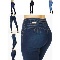 Plus Size Stretch Skinny Low Waist Jeans Denim Pants Butt Li