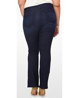 Plus Size Women's NYDJ 'Billie' Stretch Mini Bootcut Jeans,