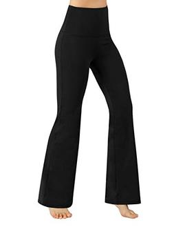 ODODOS Power Flex High Waist Boot-Cut Yoga Pants Tummy Contr