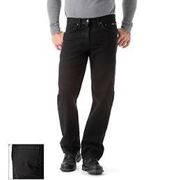 Lee Men's Regular Fit Straight Leg Jean, Double Black, 38W x