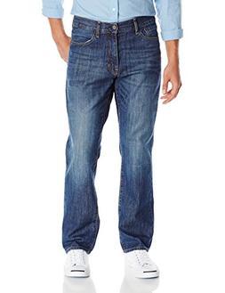 IZOD Mens Regular Fit Straight Leg Jean,Medium Vintage,34W x