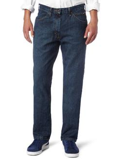 LEE Men's Regular Fit Straight Leg Jean, Dark Blue Fade, 30W