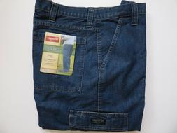 Wrangler Relaxed Fit Cargo Jean 6 Pocket Dark Stone Denim Me