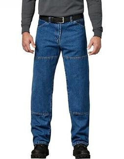 DICKIES Relaxed Fit Carpenter Double Knee Indigo Denim Jeans