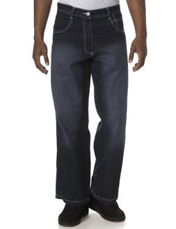 Southpole Men's Relaxed Fit Core Jean, Dark Sand Blue, 32x34