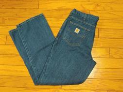 Carhartt Relaxed Fit Denim Work Jeans Mens Sz 34 X 34 381 -8