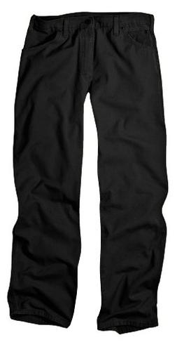 Dickies Men's Relaxed Fit Duck Jean, Black, 36x32