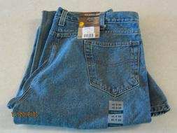 Carhartt relaxed fit jeans 40x34 men's blue denim straight l