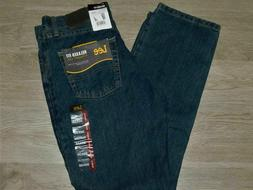 LEE Relaxed Fit Jeans Straight Leg At Waist Tomas Dark Blue