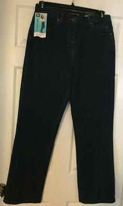 Lee Relaxed Straight Leg Jeans - Medium Length 10, Premium D