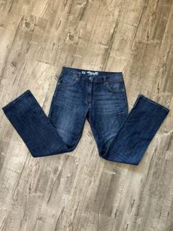 Wrangler Retro Slim Fit Boot Cut Mens Jeans 32 x 34 Dark Blu