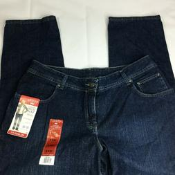 LEE Riders Jeans Sz 18W P Straight Leg High Waste Petitem Mo