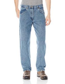 Wrangler Men's Rugged Wear Jean, Grey Indigo, 54x28