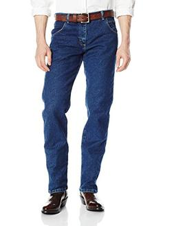Wrangler Men's Rugged Wear Regular Straight Fit Jean, Dark S
