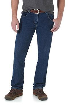 Wrangler Men's Rugged Wear Regular Straight Fit Jean, Dark S