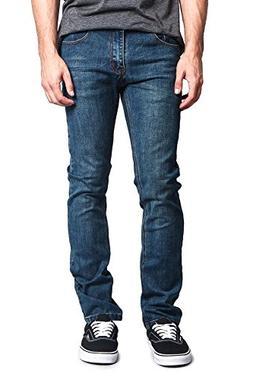 Victorious Men's Skinny Fit Stretch Raw Denim Jeans DL1004 -