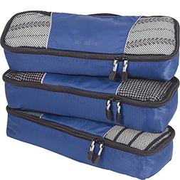 eBags Slim Packing Cubes for Travel - Organizers - 3pc Set -