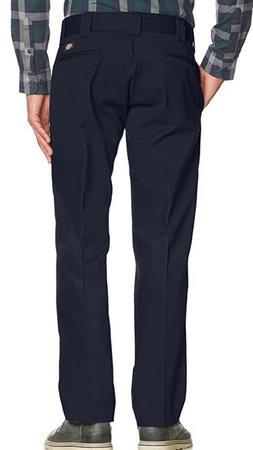 Dickies Slim Straight Flat front Blue Work Pants 36 x 30 Men