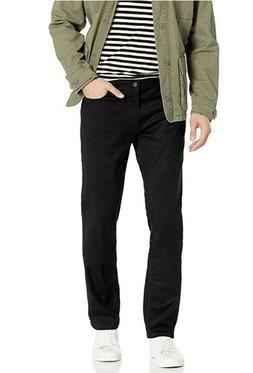 Calvin Klein Men's Slim Straight Pant, Dark Black, 34W x 34L