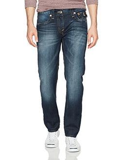 True Religion Men's Slim Straight Jean with Flap Back Pocket