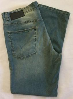 Calvin Klein Men's Slim Straight Pant, Silver Bullet, 36W x