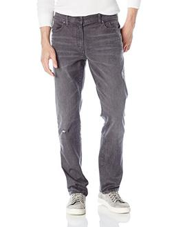 Calvin Klein Jeans Men's Slim Straight, Destructed Grey, 38x