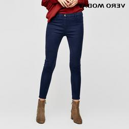 Vero Moda Slim wrap stretch denim pants <font><b>Jeans</b></
