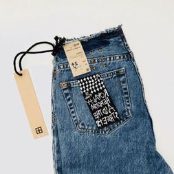 Ksubi Straight N Narrow Ripped City Women's Mom Jeans Croppe
