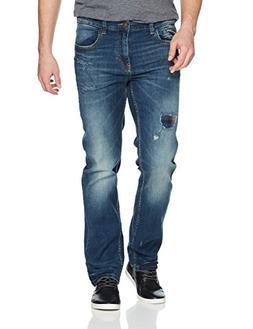 UNIONBAY Men's Stretch Straight Leg Denim Jean, Worn Blue St