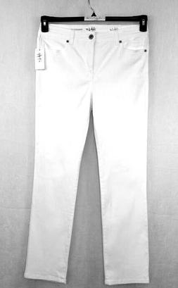 STYLE & CO. Jeans Size 12P  Straight Leg High Rise TC White