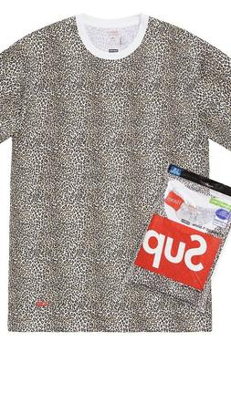 SUPREME Hanes Leopard Tee pack  Mens Small