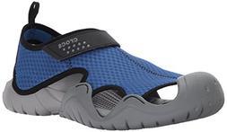 Crocs Men's Swiftwater Sandal M,Blue Jean/Slate Grey,10 M US