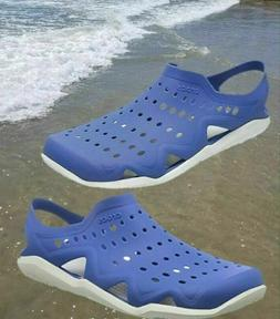 CROCS Swiftwater Wave Men's Sandals Blue Jean/Pearl White Si