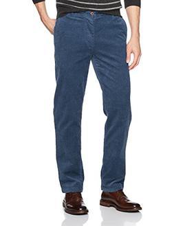 IZOD Men's Tailgate Corduroy Pants, Denim Blue, 34W X 34L