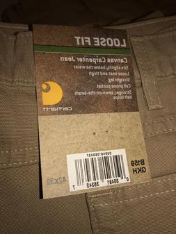 TWO Pairs CARHARTT Canvas Carpenter Jeans 42 X 32 Loose Fit