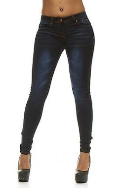 VIP Skinny Jeans For Women Mid Rise Slim Fit In 2 Dark Blue