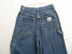 vtg Lee Riveted denim carpenter work jeans sz 10 high waist