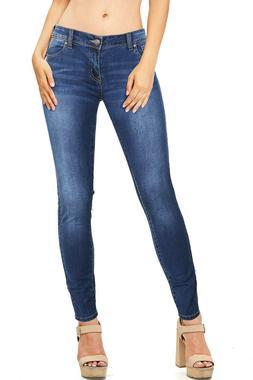 Wax Women's Stretch Junior Plus XL Jeans w Low Rise & Skinny