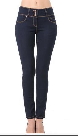 Wax Women's Juniors Body Flattering Mid-Rise Skinny Jeans-Da