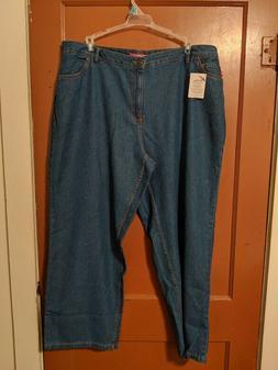 Woman Within Wide Leg 100% Cotton Jean Plus Size 20W New