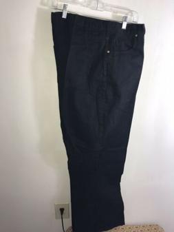 Venezia Woman Black Denim Jeans 32 Tall Plus Size Wide Leg N