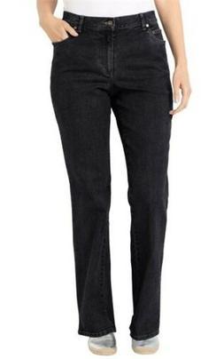 woman within black bootcut jeans women plus size 36W