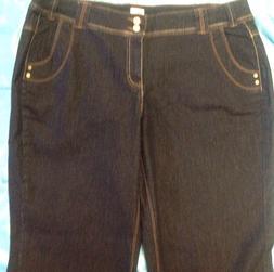Just My Size  Womans Jeans Designer Blue Denim Flap Pockets