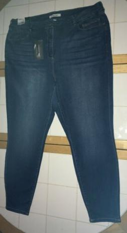 Womans Plus Size Refuge Hi Rise Shaping Skinny Ankle Jeans,