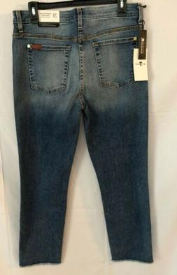 7 For All Mankind Women High Waist Crop Straight Jeans Size