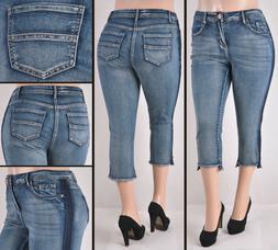 """Women Plus size """"Ashley Stewart"""" Stretch Skinny Capri Jeans"""