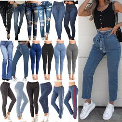 Women's High Waisted Skinny Stretchy Pencil Denim Jeans Jegg