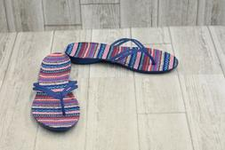 ** ** Crocs Women's Isabella Graphic Flip Flop - Blue Jean/G