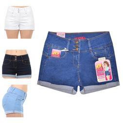 Wax Jeans Women's Juniors Cuffed Hem Denim Shorts 3xl